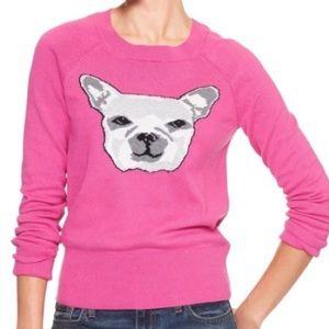 Gap French Bulldog Knit Pink Sweater